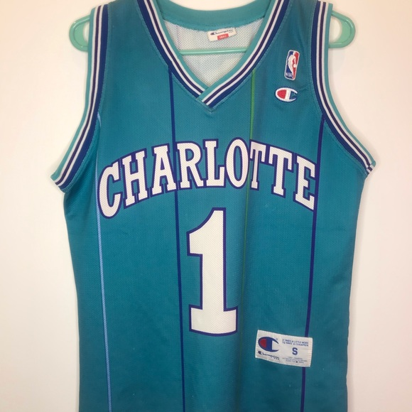 separation shoes aca8c e6ceb Charlotte Hornets Muggsy Bogues Europe Jersey